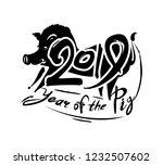 boar 2019. pig 2019.... | Shutterstock .eps vector #1232507602
