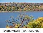 beautiful autumn landscape of... | Shutterstock . vector #1232509702