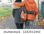 closeup of couple back entwined ... | Shutterstock . vector #1232511442
