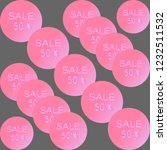 round pink glowing sales...   Shutterstock .eps vector #1232511532