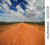 Red Australian Rural Road With...