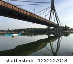 bridge over the dnipro river.... | Shutterstock . vector #1232527018