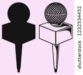 news microphone vector... | Shutterstock .eps vector #1232534452