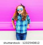 portrait little girl child in... | Shutterstock . vector #1232540812