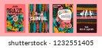 brazil carnival. vector... | Shutterstock .eps vector #1232551405