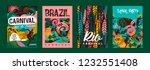 brazil carnival. vector... | Shutterstock .eps vector #1232551408