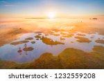 aerial shot of foggy morning at ... | Shutterstock . vector #1232559208