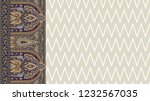 beautiful and colorful paisley... | Shutterstock . vector #1232567035