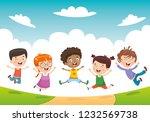 vector illustration of children ... | Shutterstock .eps vector #1232569738