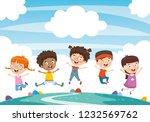vector illustration of children ... | Shutterstock .eps vector #1232569762