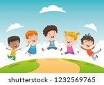 vector illustration of children ... | Shutterstock .eps vector #1232569765