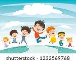 vector illustration of children ... | Shutterstock .eps vector #1232569768