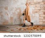 attractive stylish blonde woman ...   Shutterstock . vector #1232570095