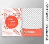 autumn sale background layout... | Shutterstock .eps vector #1232581108