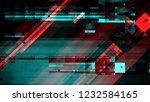 broken damaged television... | Shutterstock . vector #1232584165
