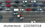 city traffic jam on a highway.... | Shutterstock . vector #1232585518