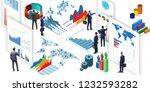 businessman in business... | Shutterstock . vector #1232593282
