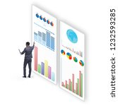 concept of business charts and... | Shutterstock . vector #1232593285