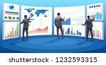 concept of business charts and... | Shutterstock . vector #1232593315