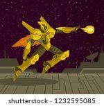 spacesuit future shooting... | Shutterstock .eps vector #1232595085