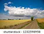 wide wheat field under... | Shutterstock . vector #1232598958