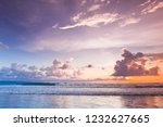 radiant colorful sea beach... | Shutterstock . vector #1232627665