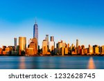view of the skyline of downtown ... | Shutterstock . vector #1232628745