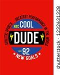 new york cool dude t shirt...   Shutterstock .eps vector #1232631328