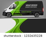 van wrap livery deaign. ready... | Shutterstock .eps vector #1232635228