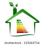 housing energy efficiency | Shutterstock . vector #123263716