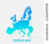 european union eu map low poly... | Shutterstock .eps vector #1232645938