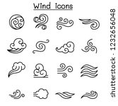 wind icon set in thin line style | Shutterstock .eps vector #1232656048