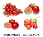 Fresh Red Grapes Isolated White - Fine Art prints