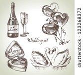 Wedding Set. Hand Drawn...