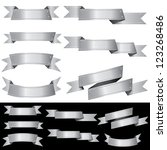 set of vector blank metal...   Shutterstock .eps vector #123268486