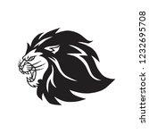 roaring lion logo mascot vector ... | Shutterstock .eps vector #1232695708