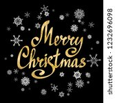 merry christmas calligraphic... | Shutterstock . vector #1232696098