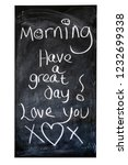 morning have a great day  love... | Shutterstock . vector #1232699338