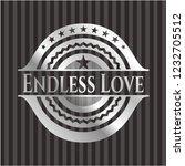 endless love silver badge or... | Shutterstock .eps vector #1232705512
