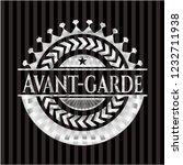 avant garde silvery shiny badge   Shutterstock .eps vector #1232711938