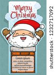 doodle patch santa on chimney | Shutterstock .eps vector #1232717092