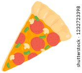 vector illustration of pizza... | Shutterstock .eps vector #1232723398
