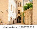 tight streets of kotor ... | Shutterstock . vector #1232732515