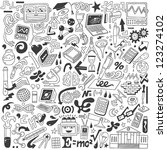 science   doodles collection | Shutterstock .eps vector #123274102