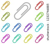 paper clip icon in multi color...