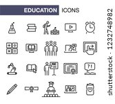 education icons set simple flat ... | Shutterstock . vector #1232748982