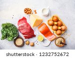 balanced diet food background.... | Shutterstock . vector #1232752672