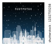 winter night in nuremberg.... | Shutterstock .eps vector #1232755258