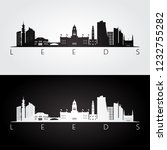 leeds skyline and landmarks... | Shutterstock .eps vector #1232755282