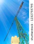 tower crane against blue sky... | Shutterstock . vector #1232755795